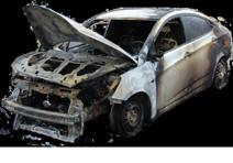 Cгоревшие авто